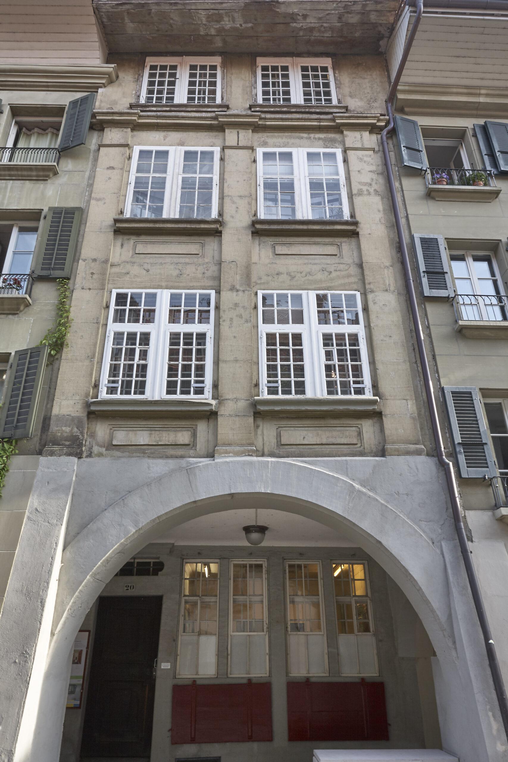 Aussenansicht Künstlerhaus Postgasse 20, Bern